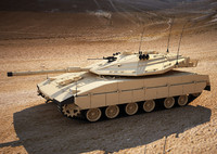 3d obj merkava mk4 battle tank