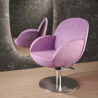 3d vida-chair chair hair