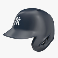 baseball helmet rawlings new york 3d c4d