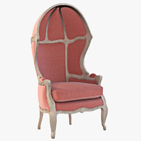 Versailles Burlap Backed Red Chair