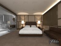 3d model bedroom bath