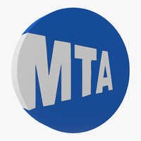 new york subway logo 3d 3ds