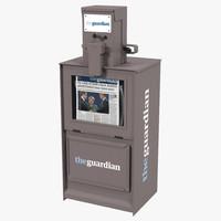 Classic Newspaper Box Gray