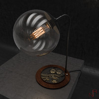 vintage table lamp 3d model