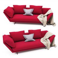 3d zeus sofa flexform model