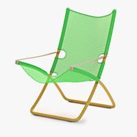 snooze deckchair chair 3d 3ds