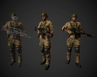 Low Poly Game Character Soldier