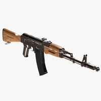 3d model rifle 1974 kalashnikov
