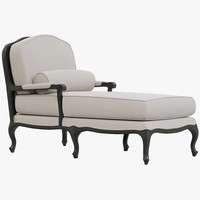 3dsmax restoration hardware toulouse chaise