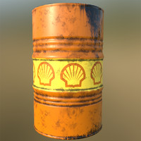 oil barrel 3d model