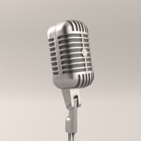 microphone blender cycles 3d model