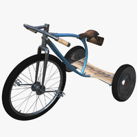 luxury kids vanilla bicycles 3d obj