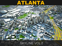 3d atlanta skyline vol2