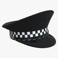 3d uk police cap 3