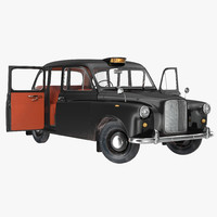 3d london cab fx4 rigged model
