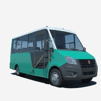 3d model russian gazelle bus