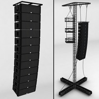 3d model speaker concert scaffolding tower