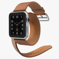 apple watch hermes double 3d model