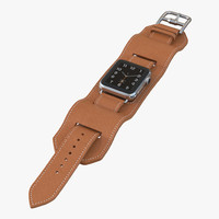 apple watch hermes cuff 3d model