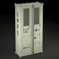 sea container wardrobe industrial 3d max
