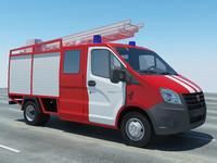 truck gazelle 3d model