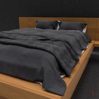 3d model modern soft bed