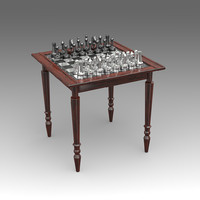 chess table 3d model