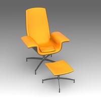 armchair swive ottomanka 3d fbx