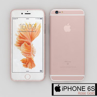 apple iphone 6s rose obj