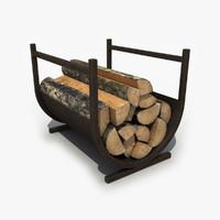 3d firewood wood model