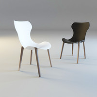 3d model shell chair papilio