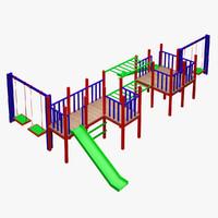 kid s playground 3d model
