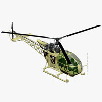3d model alouette ii light utility