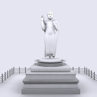 3d model gowtham buddha
