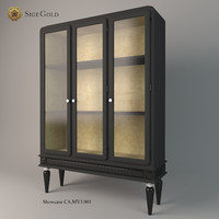 showcase sige gold 3d model