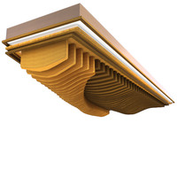 wave ceiling element 3d max
