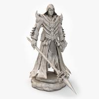 3ds max wizard 2 statue