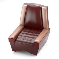 3d classical chair red