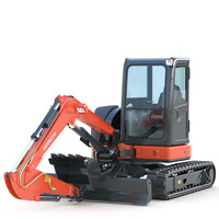 mini excavator hitachi 3ds