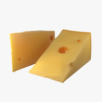 3d cheese wedge model