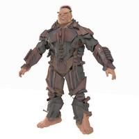 3d model army cyborg robot