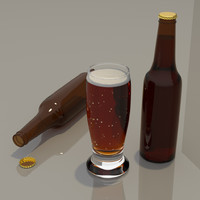 3d beer bottle model