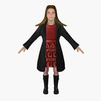 girl ready animation 3d model