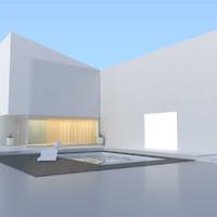 modern pool v2 3d model