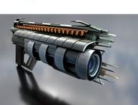 multi-gun conceptual weapon 3d model