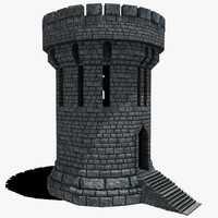 Medieval Fantasy Castle Tower_05