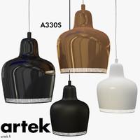 3ds max artek pendant lamp a330s