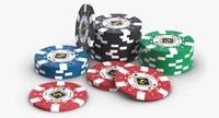 3d casino chips model