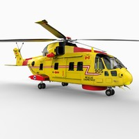 ch-149 cormorant helicopter 3d max