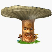 3d mushroom head